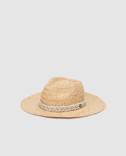 Southern Cotton - Sombrero De Mujer En Tono Natural Con Trenza de El Corte Ingles en 21 Buttons