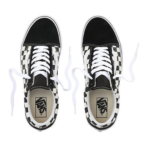 Vans Zapatillas Primary Check Old Skool ((primary Check) Black/white) Mujer Negro