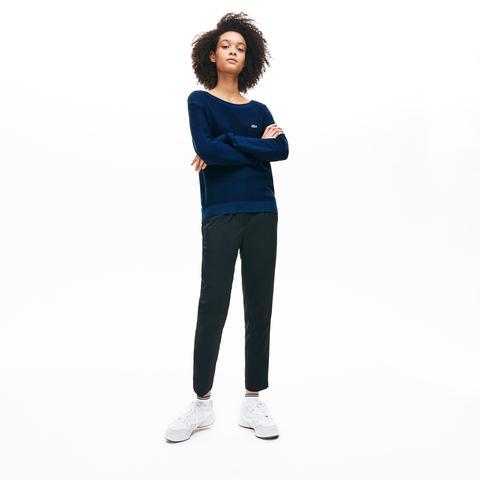 Jersey De Mujer En Algodón Suave Texturizado Con Cuello Barco