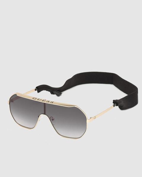 Guess - Gafas De Sol Unisex De Lente Única En Gris Y Montura De Metal Dorado de El Corte Ingles en 21 Buttons