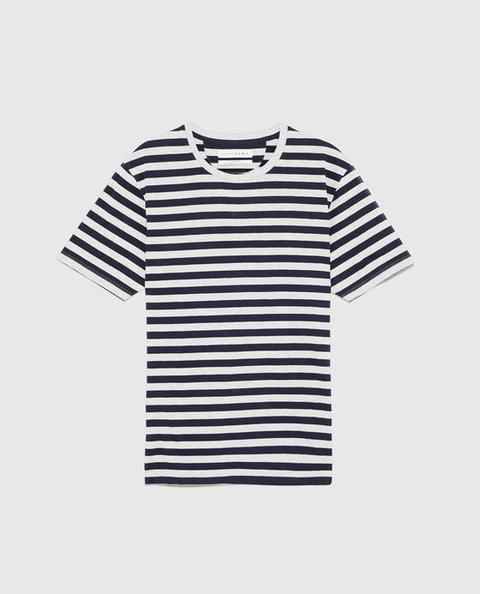 Maglietta Basic A Righe