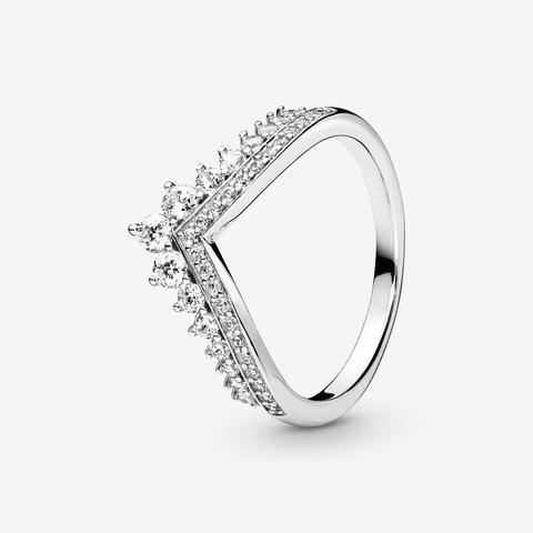 Pandora Princess Wishbone Ring - Sterling Silver / Clear