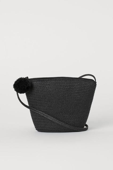 Bolso De Paja Pequeño Negro de H&M en 21 Buttons