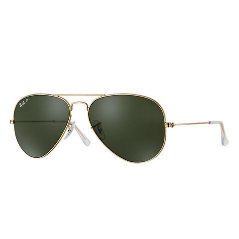 Aviator Classic Unisex Sunglasses Lentes: Verde Polarizadas, Montura: Oro