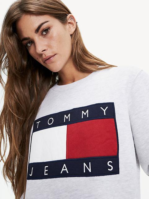 Sudadera De Corte Cropped Con Logo De Tommy Jeans de Tommy Hilfiger en 21 Buttons