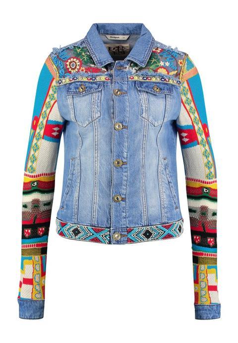 cheap for discount 7e066 33294 Desigual Chaq Fiorel Giacca Di Jeans Blue from Zalando on 21 Buttons