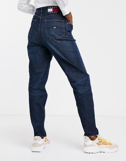 Vaqueros Mom De Talle Alto De Tommy Jeans-azul