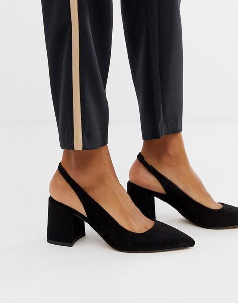 Asos Design - Samson - Chaussures À Talon Mi-haut Avec Bride De Cheville - Noir