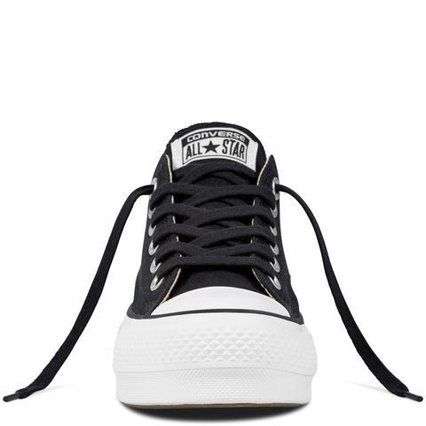 Converse Chuck Taylor All Star Platform Canvas Low Top Black, White
