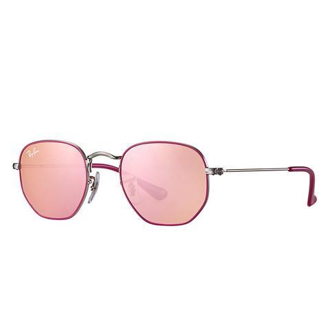 Hexagonal Junior Unisex Sunglasses Lentes: Rosa, Montura: Plata de Ray-Ban en 21 Buttons