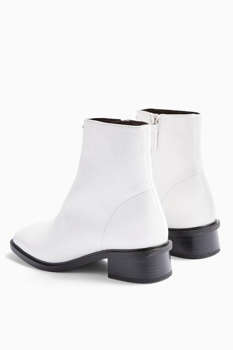 Womens Considered Valley Vegan White Flat Boots - White, White
