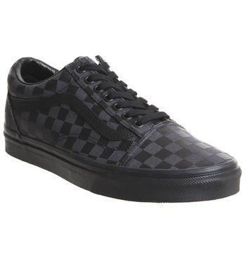 Vans Old Skool Black Black Checkerboard