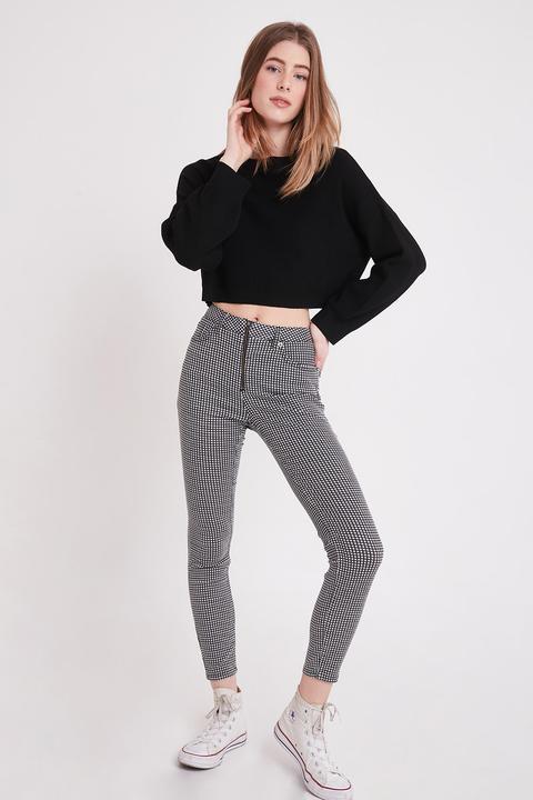 Pantalones Skinny Cuadros