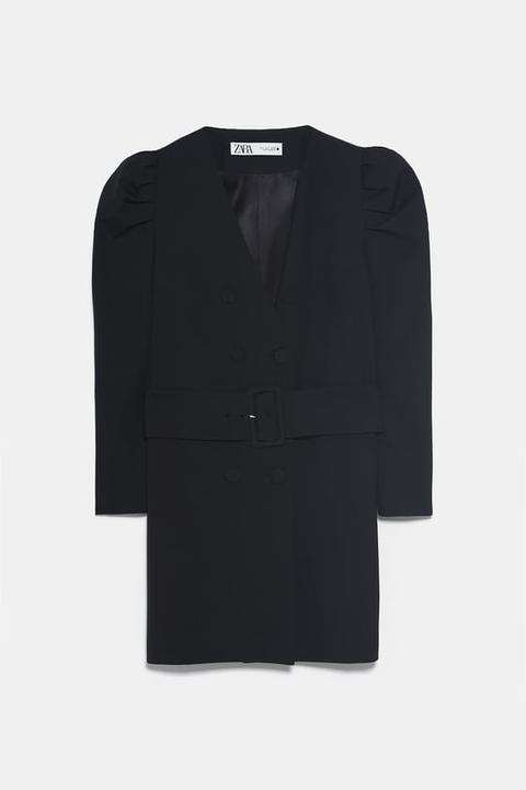 Chaqueta Vestido Cinturón de Zara en 21 Buttons