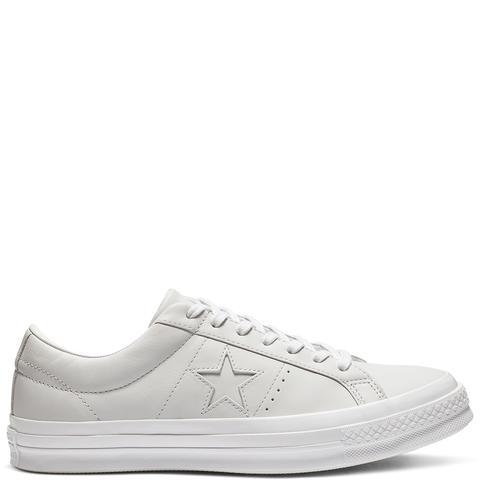 Converse One Star Leather Low Top White de Converse en 21 Buttons