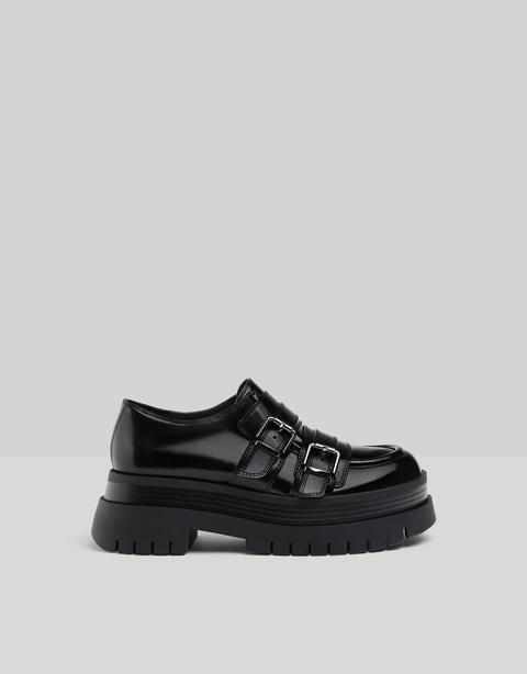 Zapato Plano Plataforma Xl Con Hebillas
