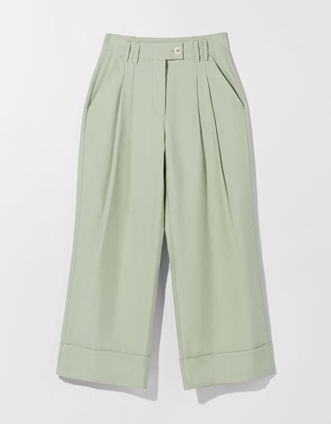 Pantalón Culotte Midi Fluido