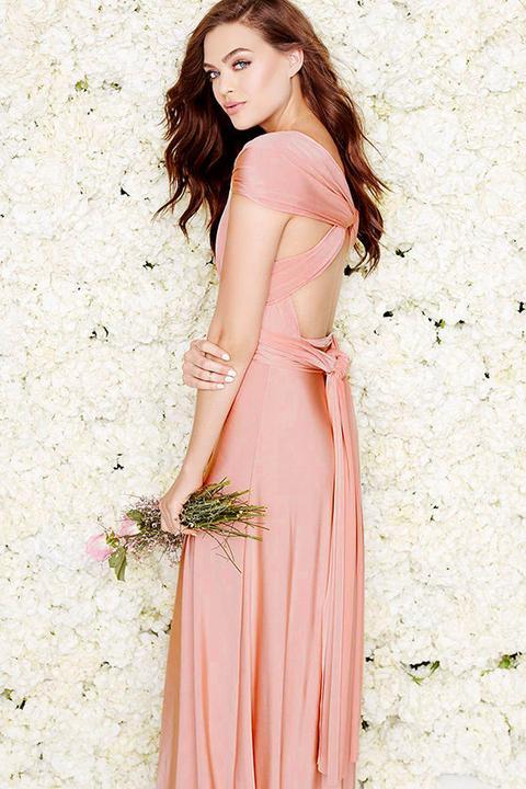 Always Stunning Convertible Blush Pink Maxi Dress - Lulus
