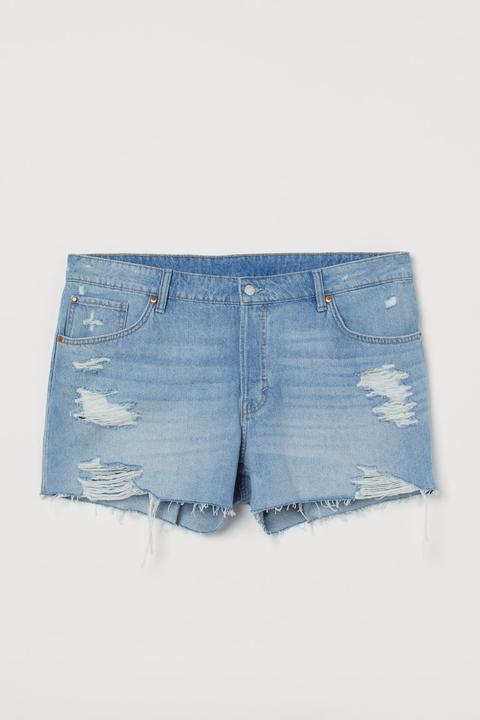 H & M+ Boyfriend Shorts - Azul