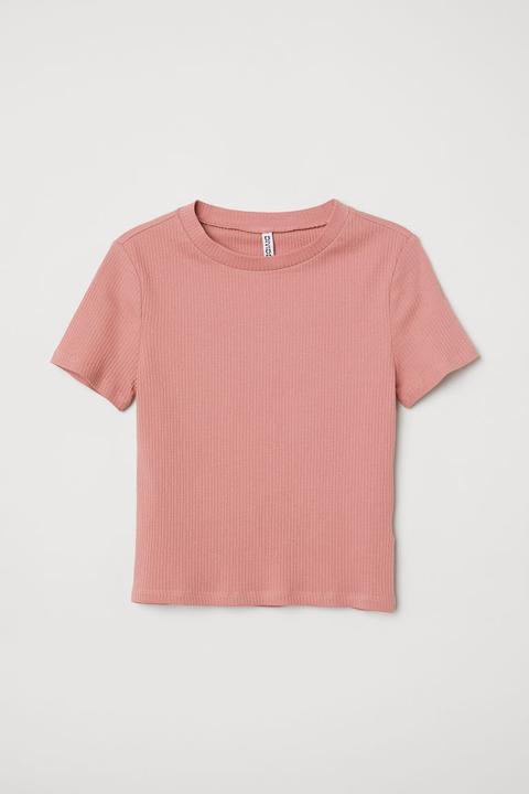Camiseta De Canalé - Rosa