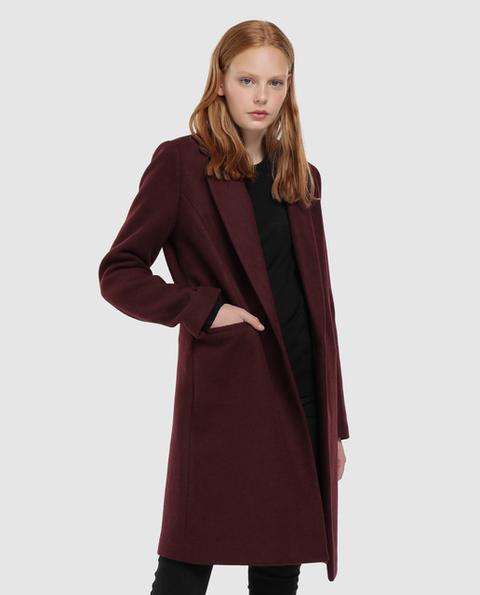 Easy Wear - Abrigo De Mujer Paño 1 Botón