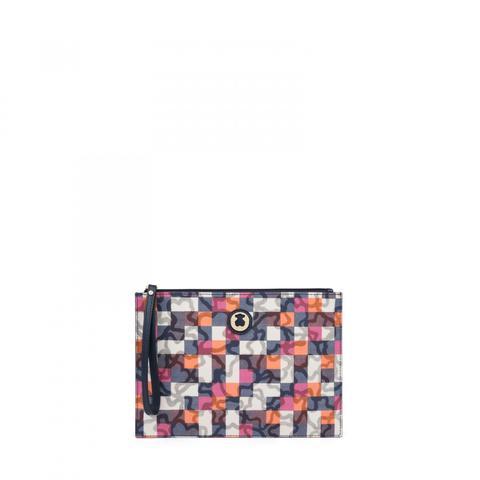 Clutch Kaos Vichy De Lona En Color Marino de Tous en 21 Buttons