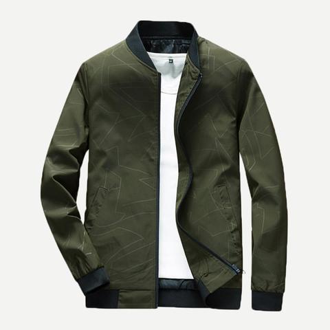 ac3245854e A Tinta Unica Verde Militare Cappotti & Giacche Da Uomo from SheIn on 21  Buttons