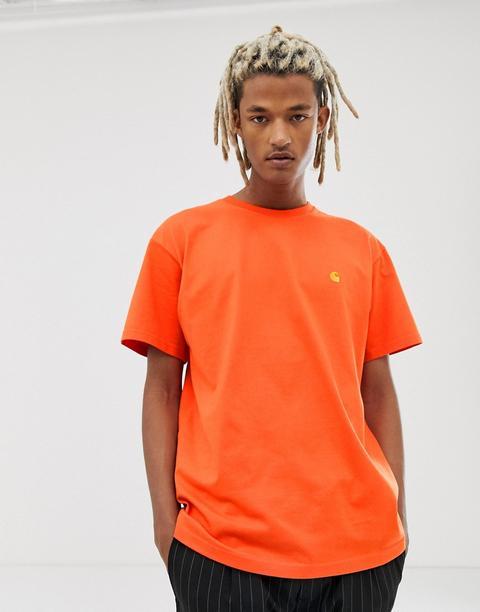 Carhartt Wip - Chase - T-shirt - Orange - Orange
