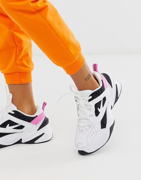 Nike M2k Tekno Trainers In White Black