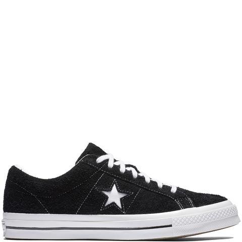 Converse One Star Premium Suede Black, White de Converse en 21 Buttons
