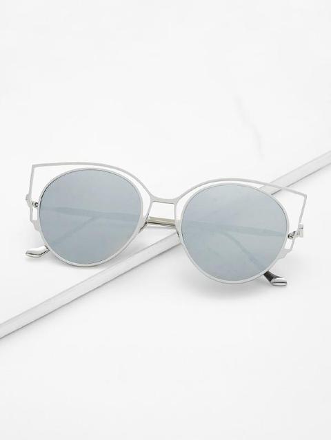 Flache Linse Katze Auge Sonnenbrillen