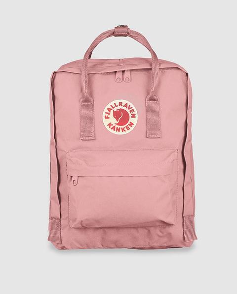 Fjällräven - Mochila De Mujer Kanken 23510 De Vinilo Impermeable En Rosa Con Detalle De Logo de El Corte Ingles en 21 Buttons