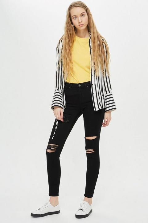 Black Super Rip Leigh Jeans de Topshop en 21 Buttons