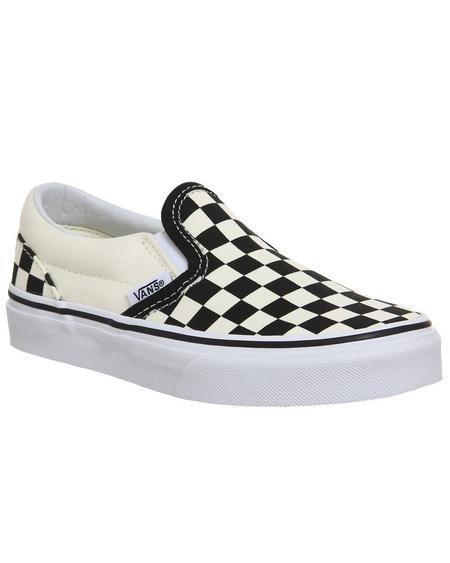 Vans Classic Slip On Kids Black White