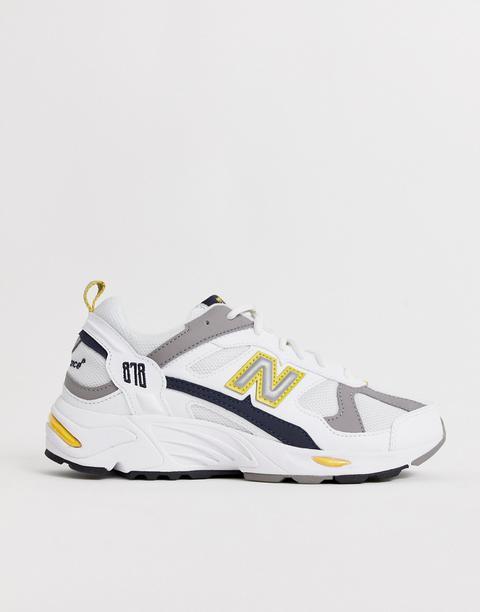New Balance 878 White Yellow Chunky
