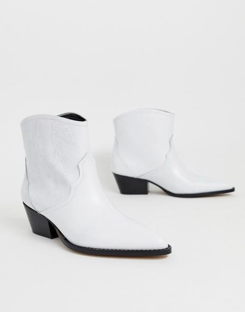 Depp - Stivaletti Stile Western In Pelle Bianca - Bianco de ASOS en 21 Buttons