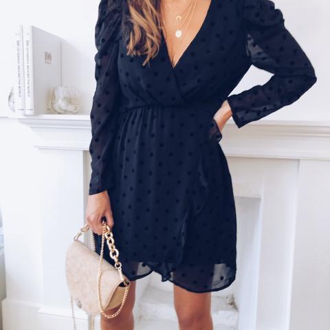 Robe Marta Noire À Pois Easy Clothes sur 21 Buttons