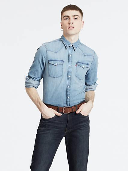 Barstow Denim Shirt Azul / Red Cast Stone de Levi's en 21 Buttons