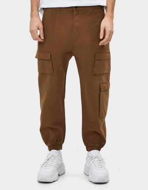 Pantalón Jogger Cargo de Bershka en 21 Buttons