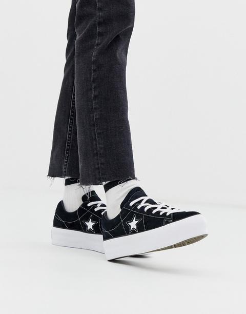 Zapatillas Negras Con Plataforma One Star De Converse de ASOS en 21 Buttons