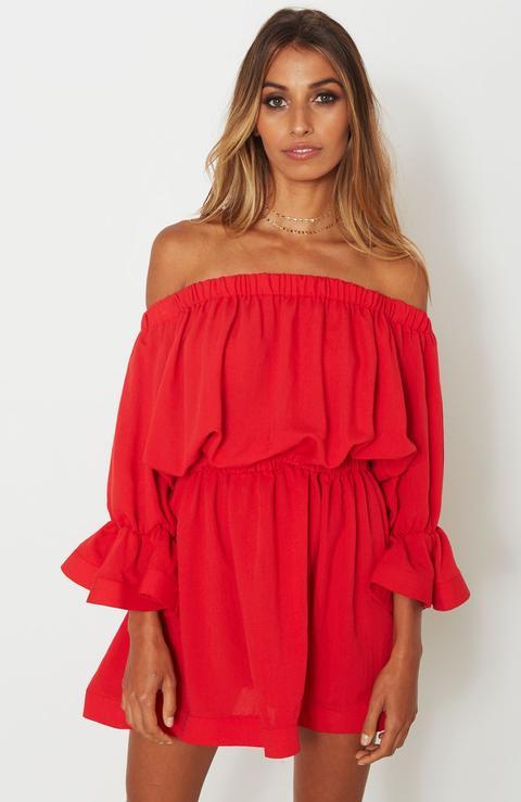 All Of The Stars Mini Dress Red