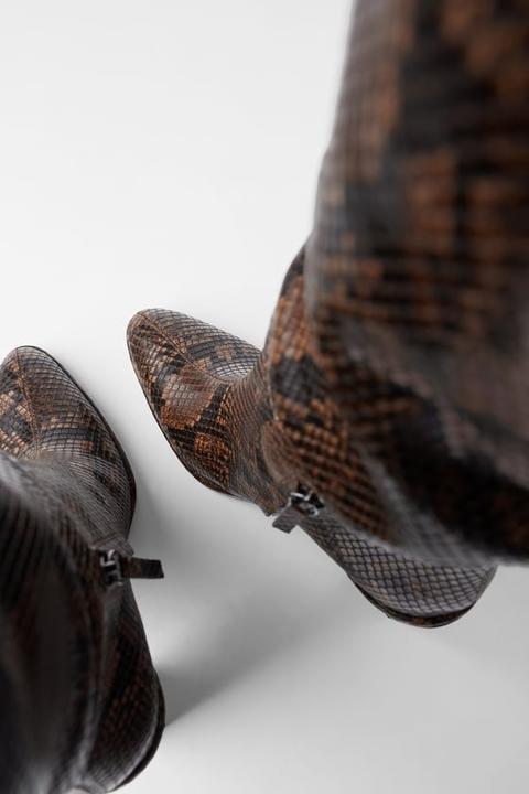 Bota Tacón Estampado Animal