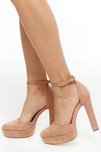 faux suede platform heels