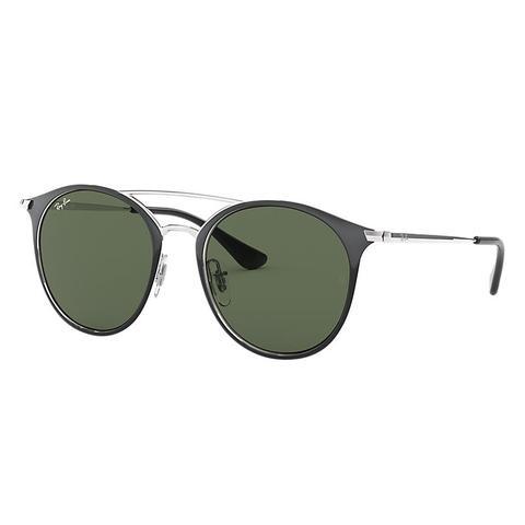 Rj9545s Unisex Sunglasses Lentes: Verde, Montura: Plata de Ray-Ban en 21 Buttons