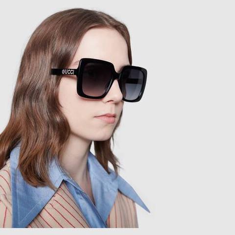 Gafas De Sol Rectangulares De Acetato