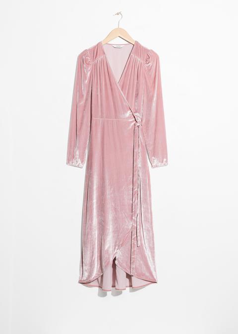 Velvet Wrap Dress de And Other Stories en 21 Buttons