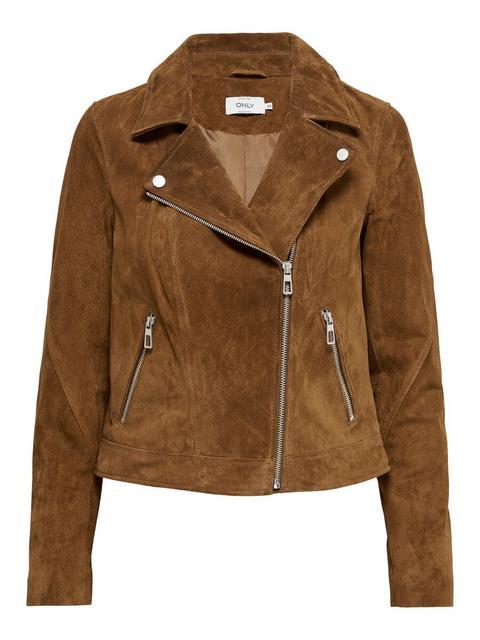 Biker Suede Leather Jacket de ONLY en 21 Buttons
