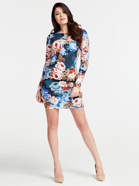 Vestido Estampado Floral Abertura de Guess en 21 Buttons