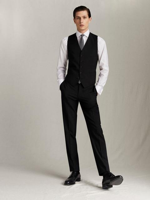 Pantalón Traje Lana Slim Fit de Massimo  Dutti en 21 Buttons