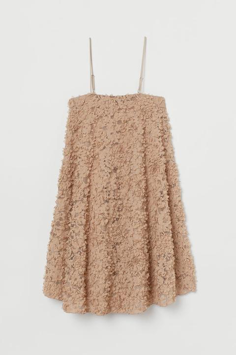 Vestido Con Aplicaciones - Beis de H&M en 21 Buttons